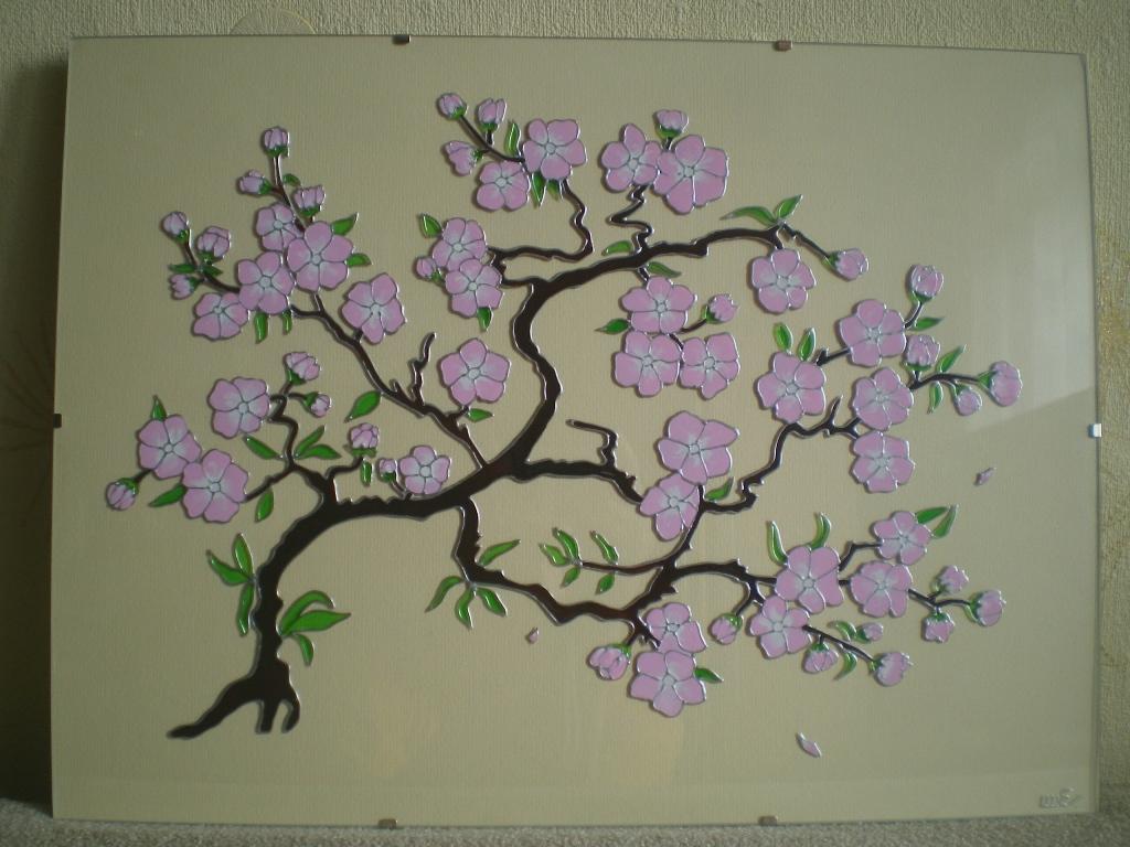 Картины своими руками сакура 43