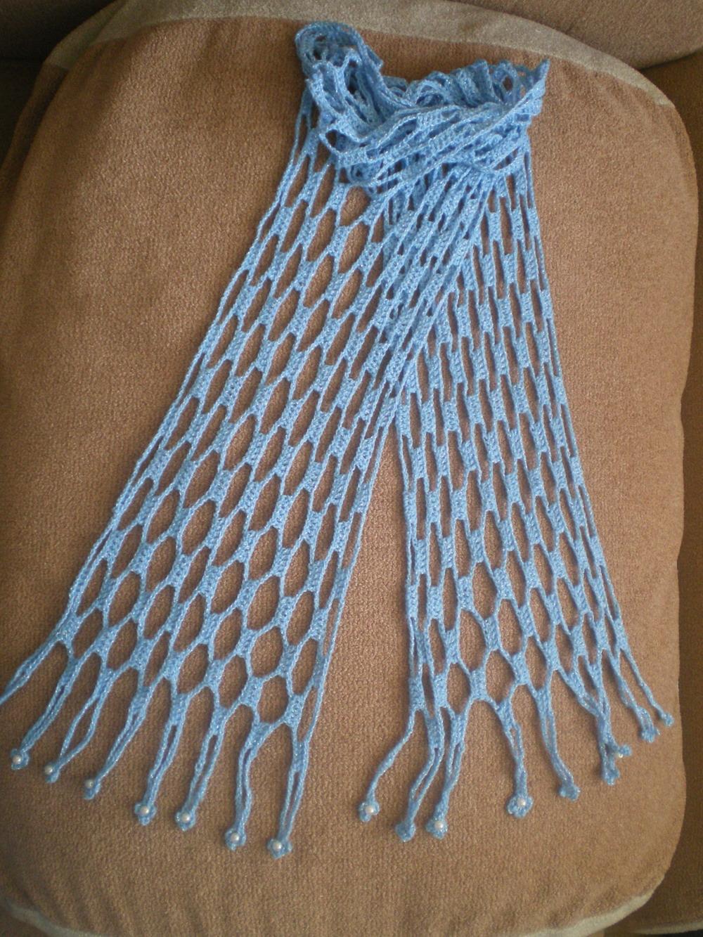 Вязание крючком красивого шарфа 91